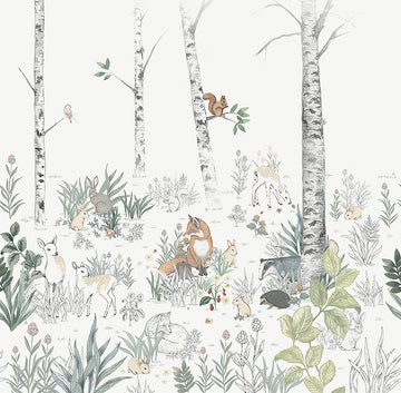 NEWBIE WALLPAPER 7481 Magic Forest Mural