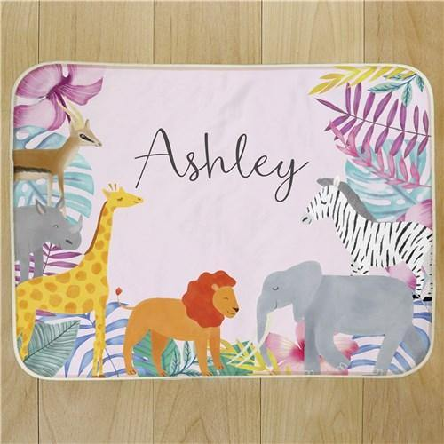 Animal Pals Personalized Blanket
