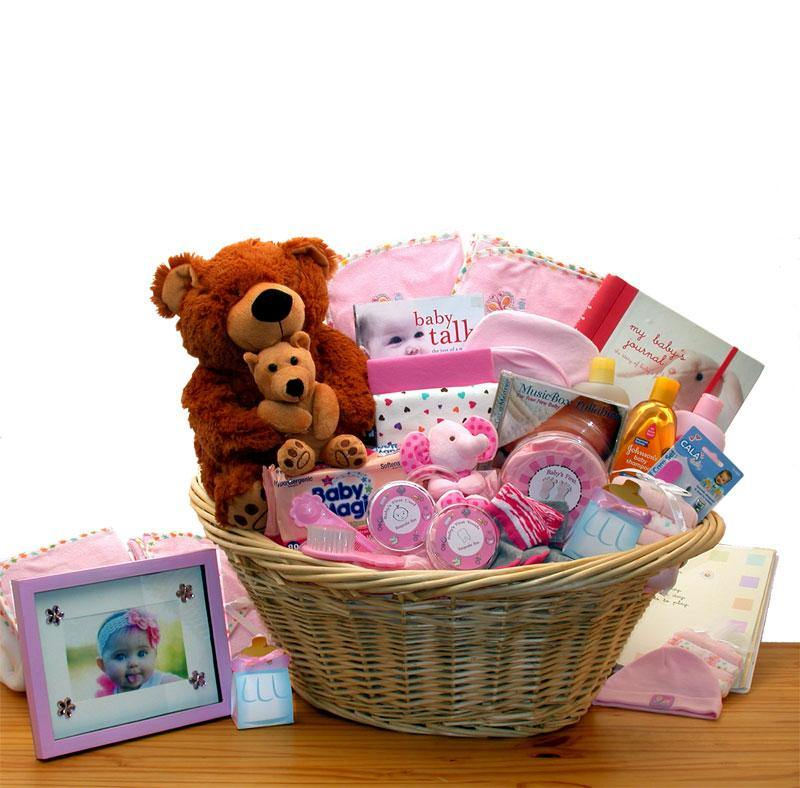 Deluxe Newborn Girl Gift Basket