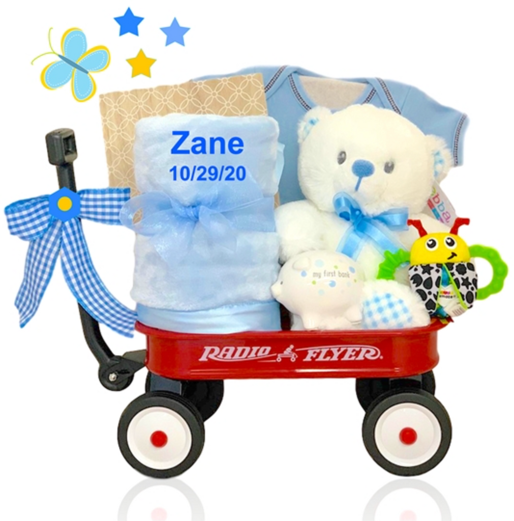 Baby Boy's Wagon Gift - Option to Personalize