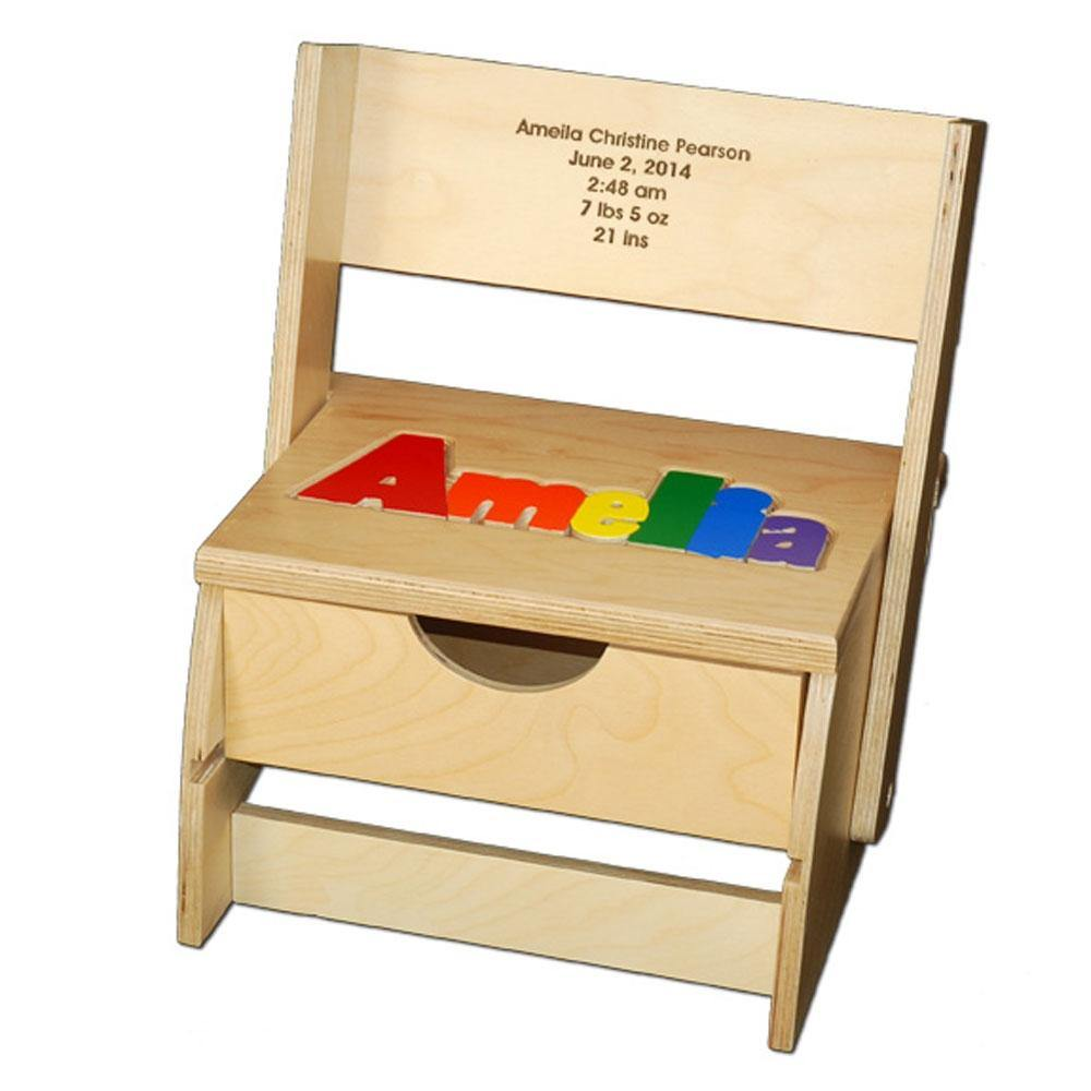 Baby Name Flip Chair with Storage Drawer - Simply Unique Baby Gifts