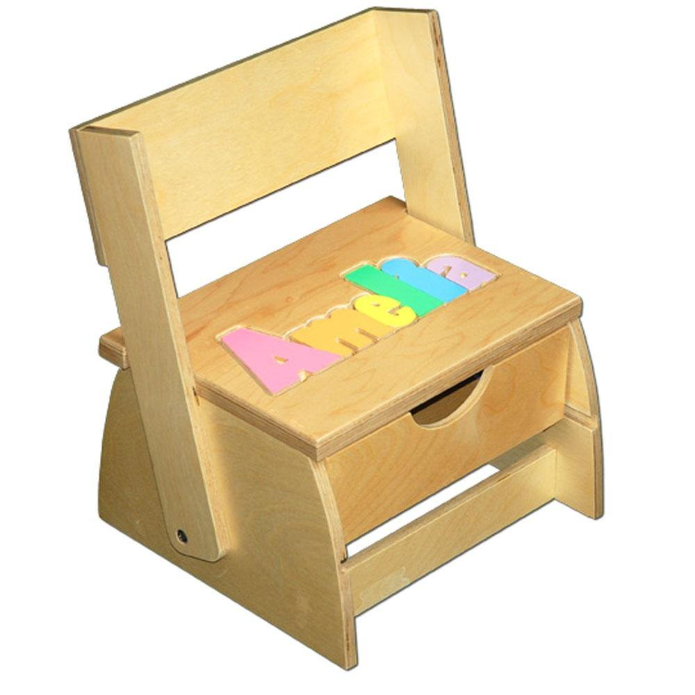 Baby Name Flip Chair with Storage Drawer