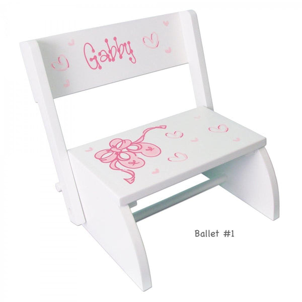 Personalized Children's Convertible Stool (Over 70 Designs)