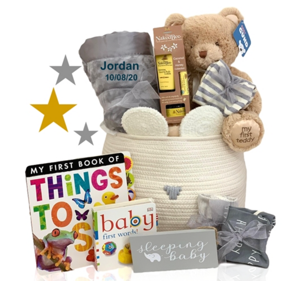 Organic Beary Awesome Basket - Simply Unique Baby Gifts