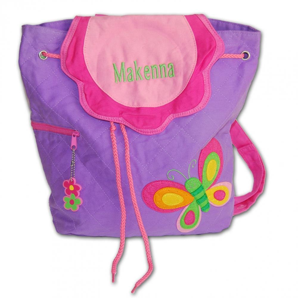 Embroidered Butterfly Backpack