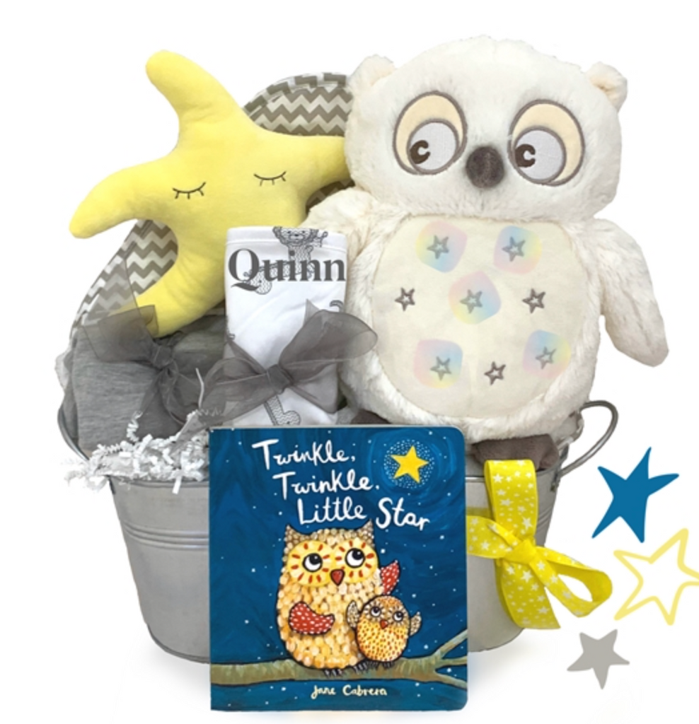 Musical Owl Starry Night Gift Basket