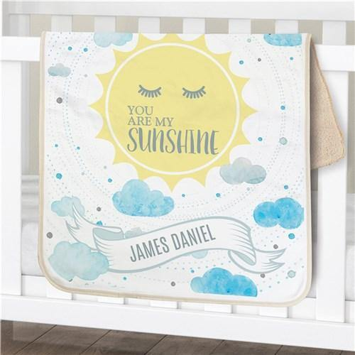 Boy's My Sunshine Personalized Blanket