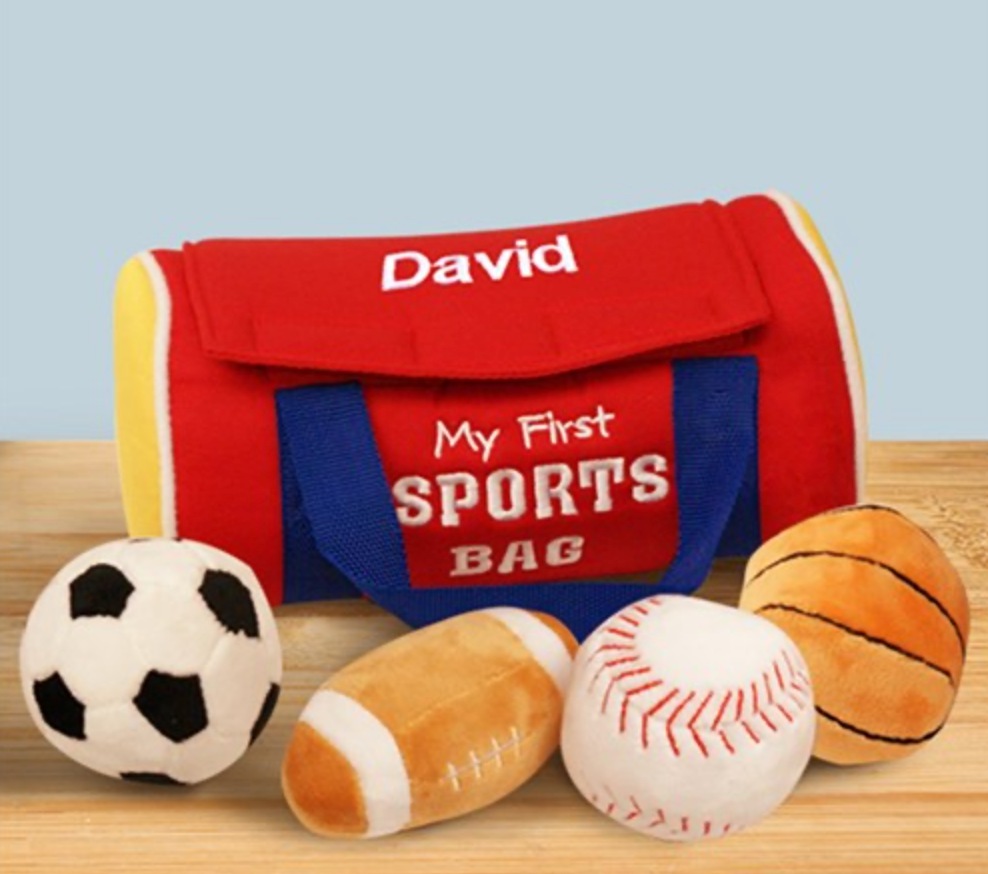 Personalized First Sports Bag with Assorted Balls
