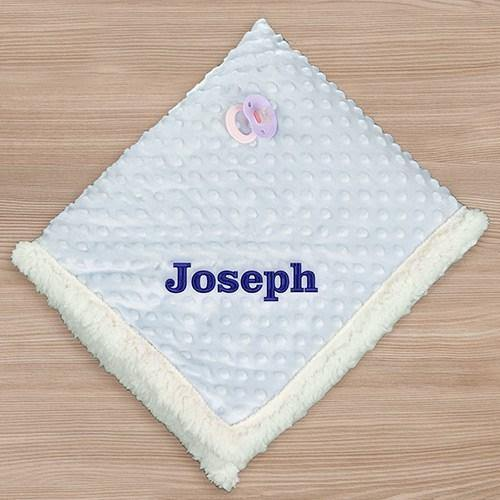 Personalized Pink or Blue Sherpa Blanket