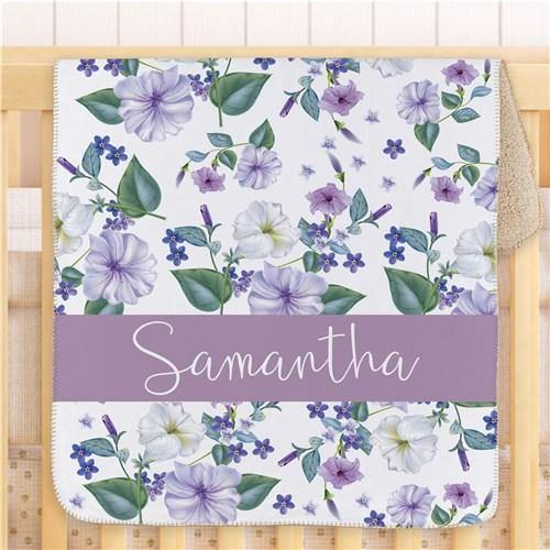 Pretty Petunias Girl's Blanket