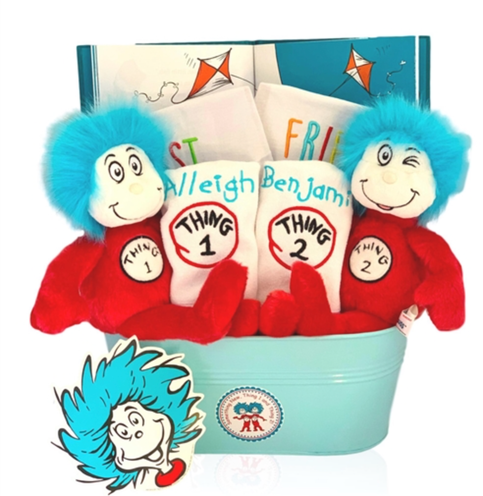 Thing 1 and Thing 2 Seuss Twins Gift - Simply Unique Baby Gifts