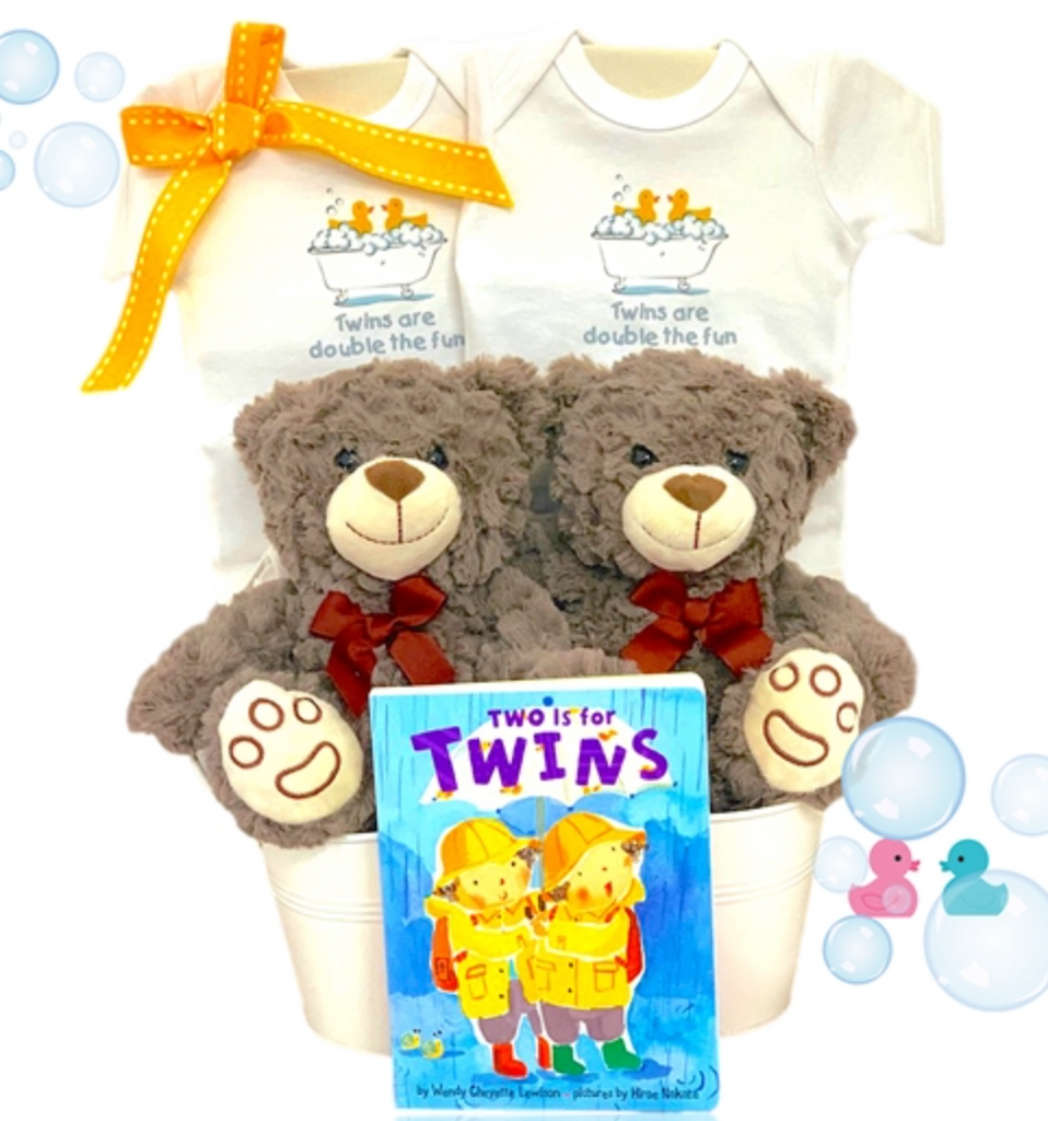 Two Much Fun Twins Gift Tub - Simply Unique Baby Gifts