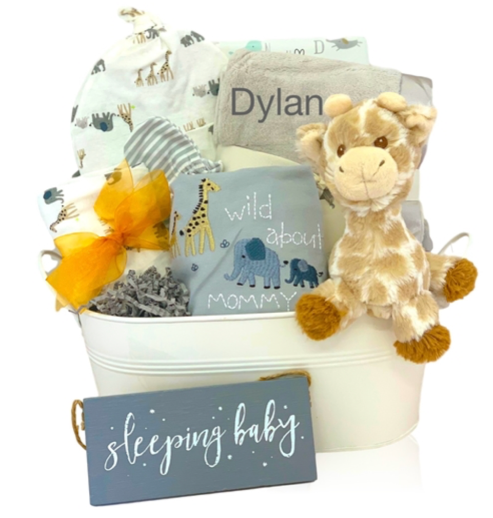 Wild About Organics Baby Basket - Simply Unique Baby Gifts