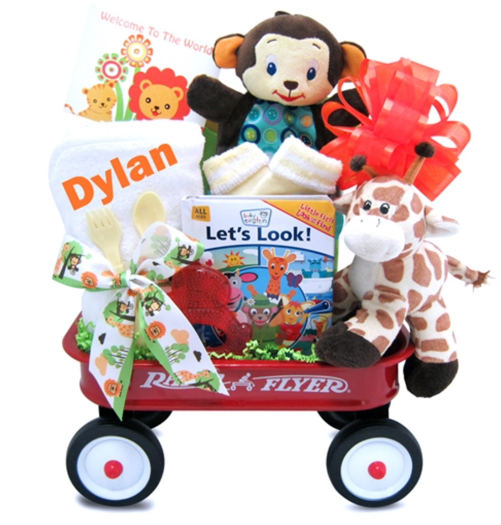 Wild and Wonderful Jungle Pal Wagon Gift - Simply Unique Baby Gifts