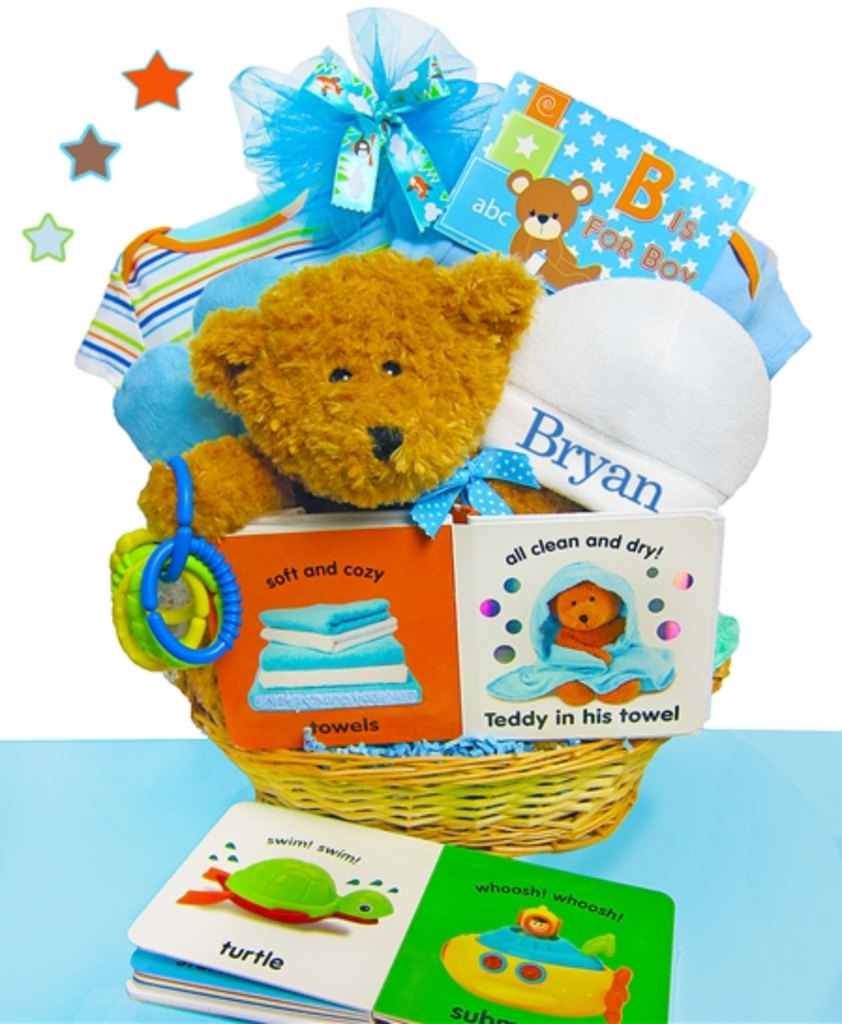 Teddy Bear Basket for Boys