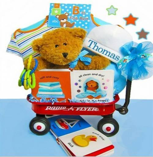Baby Boy First Teddy Bear Wagon