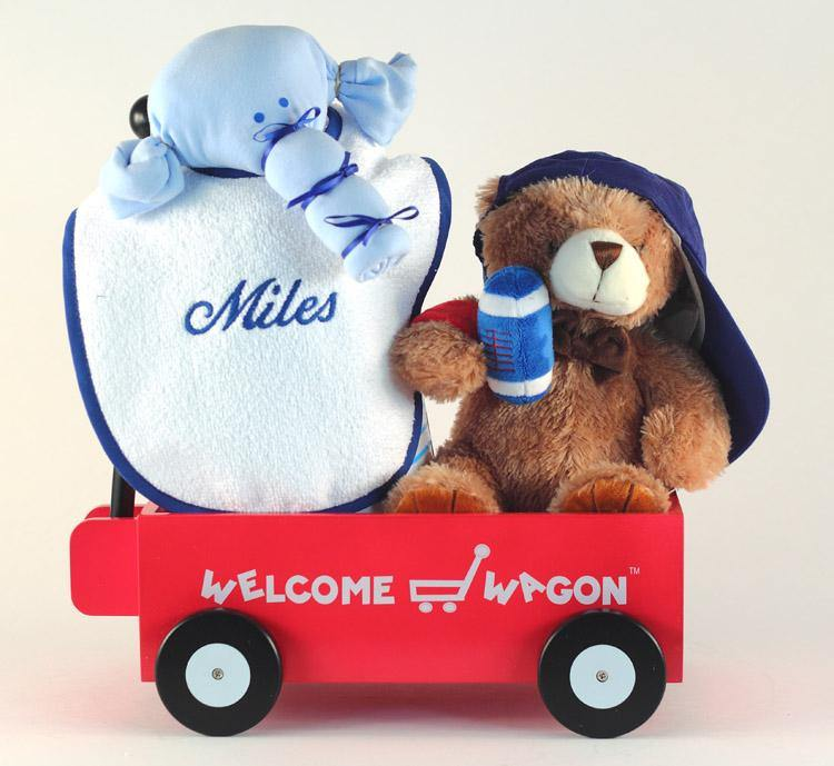 Baby Shower Presents Wagon for Boys