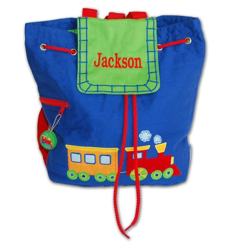 Embroidered Choo-Choo Backpack - Simply Unique Baby Gifts