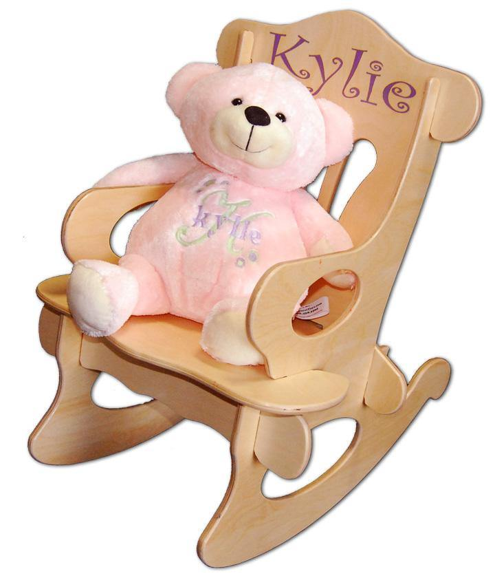 My First Rocking Chair and Bear Set, Personalized