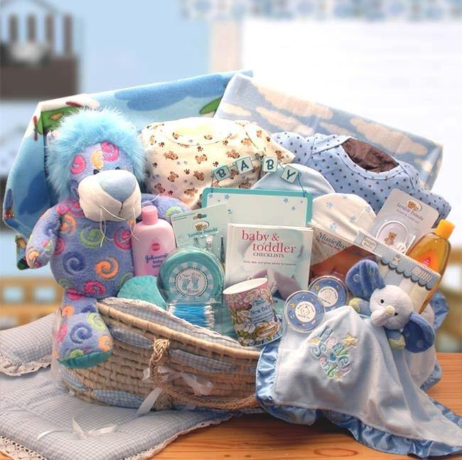 Super Sized Baby Boy Gift Basket