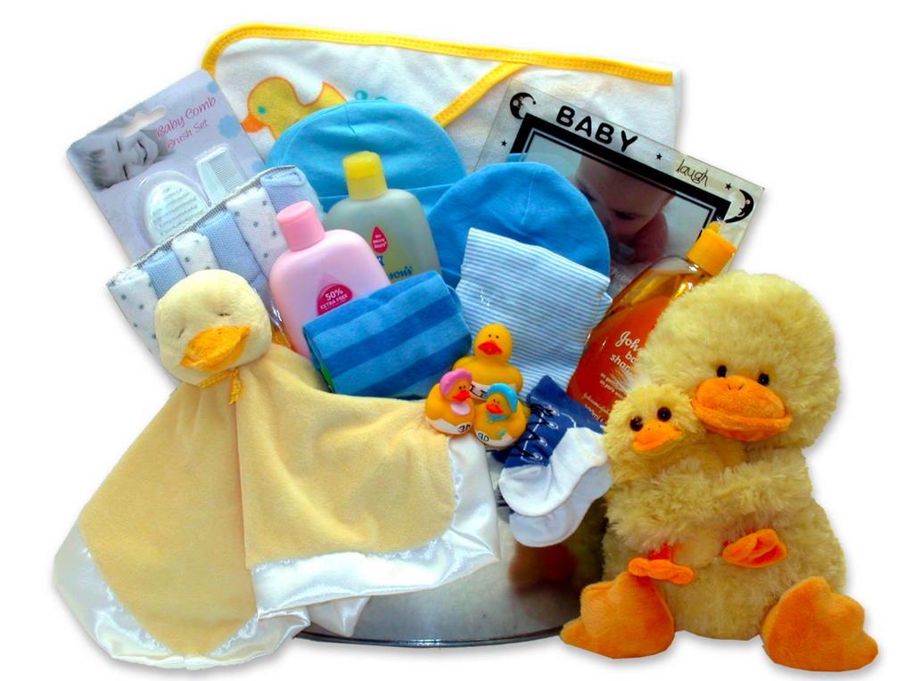 Just Ducky Bath Bucket - Choose Blue, Pink, Yellow