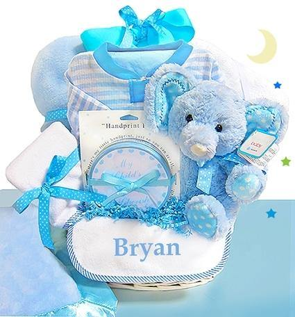 Minky Elephant Basket for Boys - Simply Unique Baby Gifts