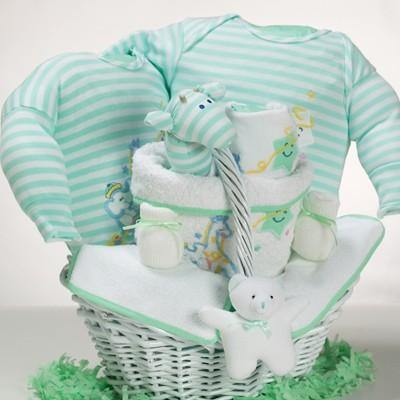 Pastel Green & White Layette Set