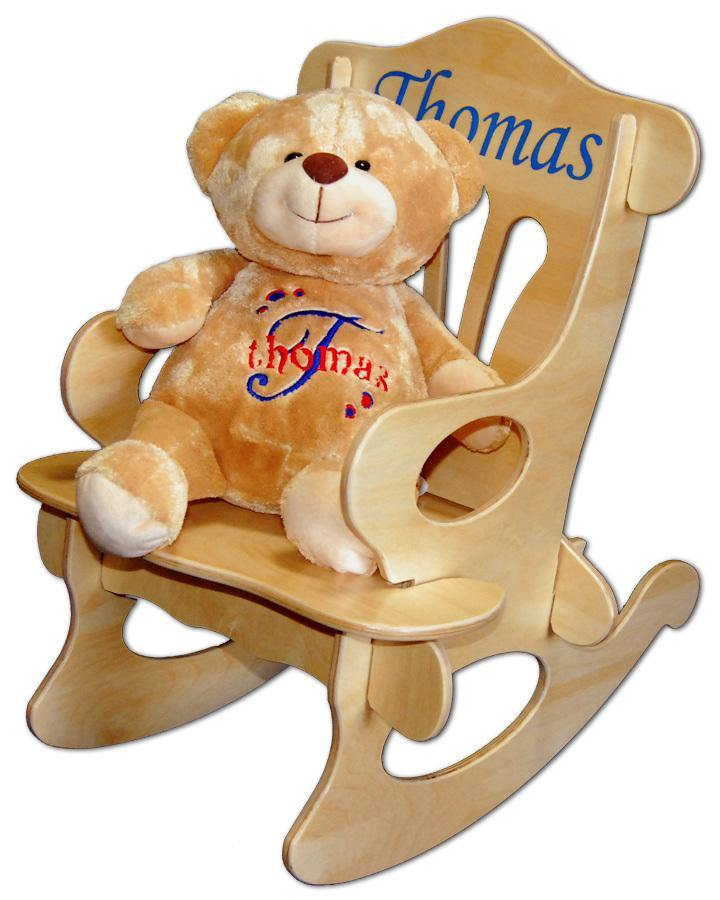 Personalized Rocker and Teddy Bear Set