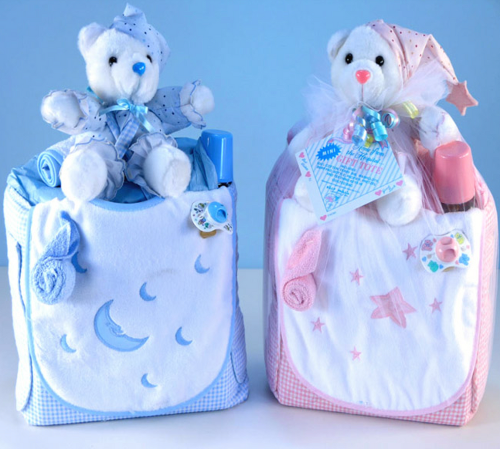 Embroidered Stars / Moon Diaper Bag Set