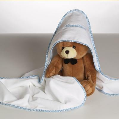 Personalized Hooded Bath Towel & Teddy Bear