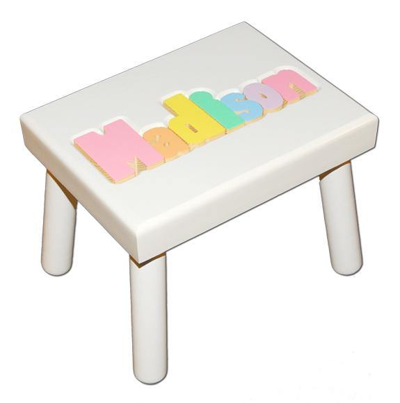 Personalized Painted Name Seat in Black or White