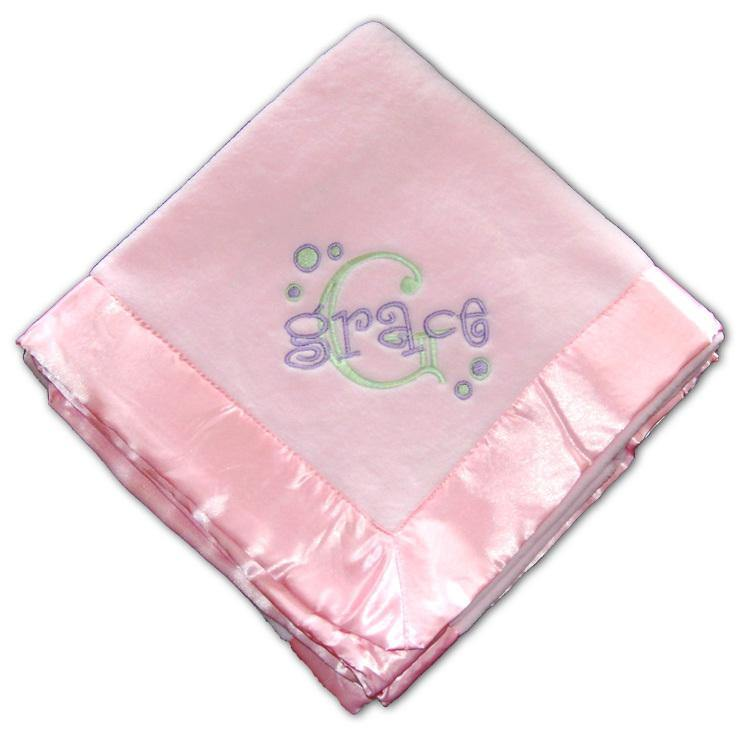 Personalized Pink Baby Girl Blanket - Simply Unique Baby Gifts