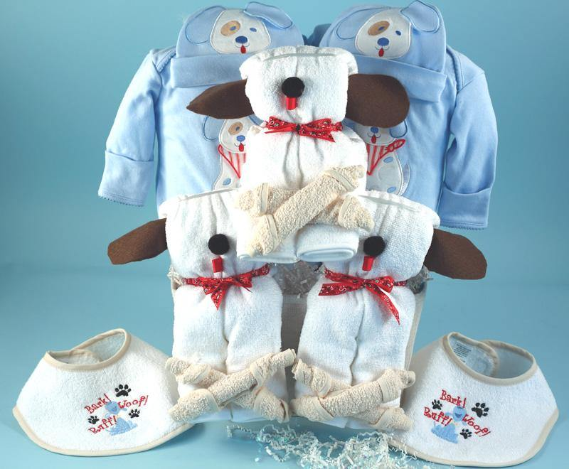 Puppy Themed Gift for Twins or Triplets - Simply Unique Baby Gifts