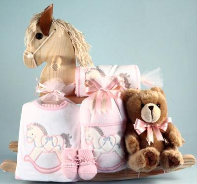 Rocking Pony Baby Girl Gift Set