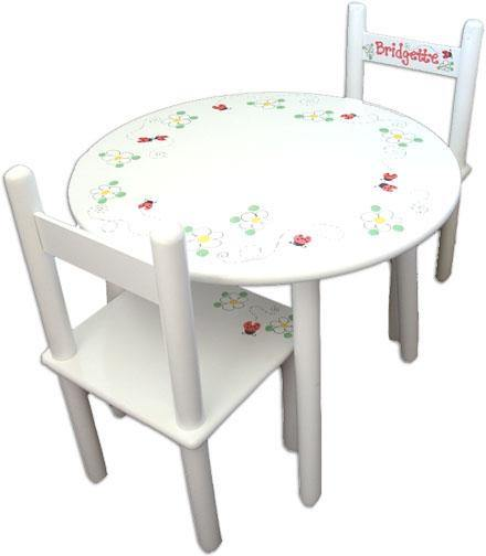 Personalized Wooden Table and Chairs for Kids