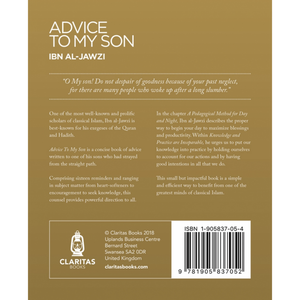 Claritas Books Buku Advice to My Son by Ibn Al-Jawzi ISATMS