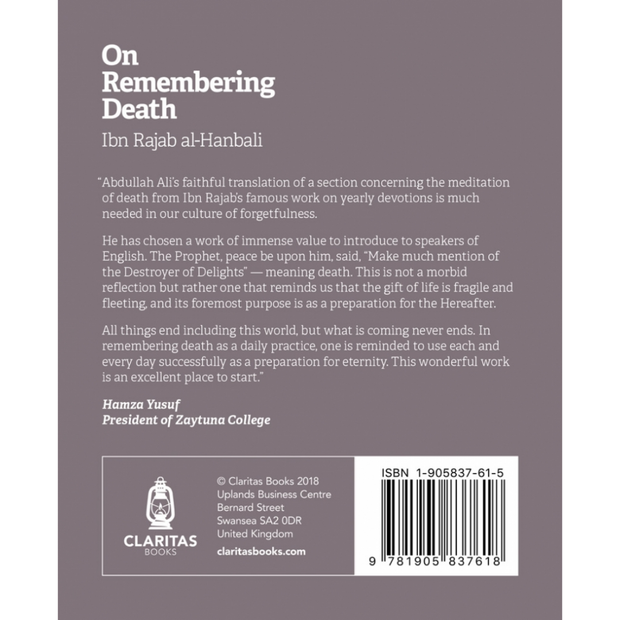 Claritas Books Buku On Remembering Death by Ibn Rajab Al-Hanbali ISORD