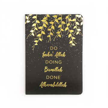 Dua Gifts Merchandise Do Insha' Allah Luxe A5 Notebook