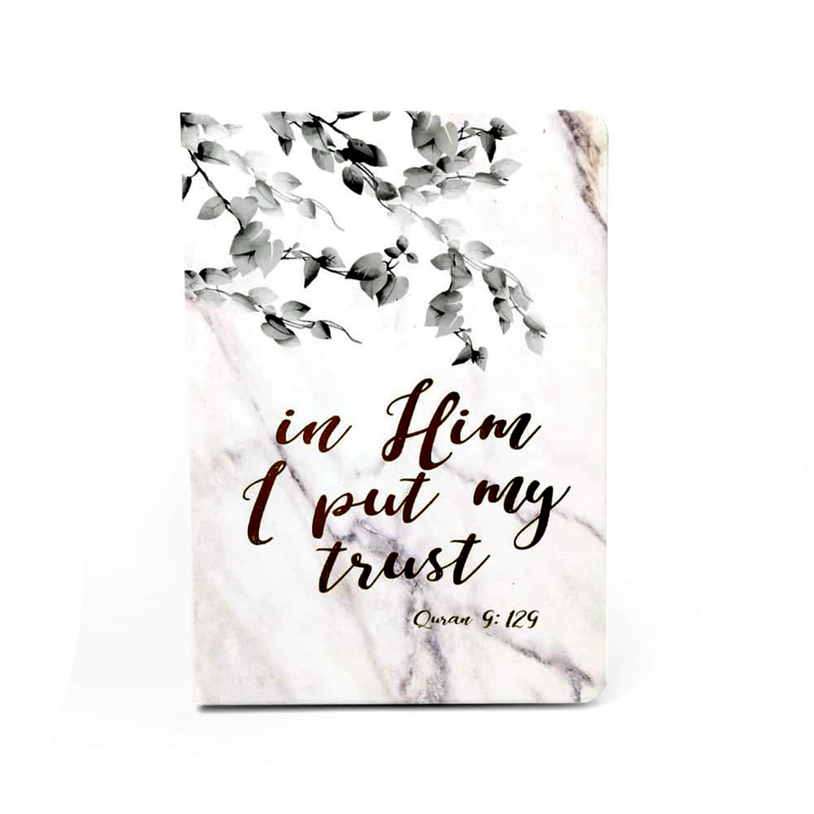 Dua Gifts Merchandise In Him I Put My Trust Luxe A5 Notebook