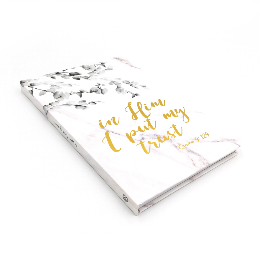 In Him I Put My Trust Luxe A5 Notebook - Iman Shoppe Bookstore