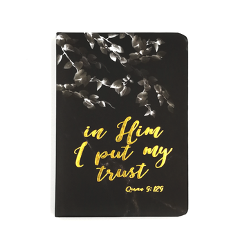 Dua Gifts Merchandise In Him I Put My Trust Luxe A6 Notebook