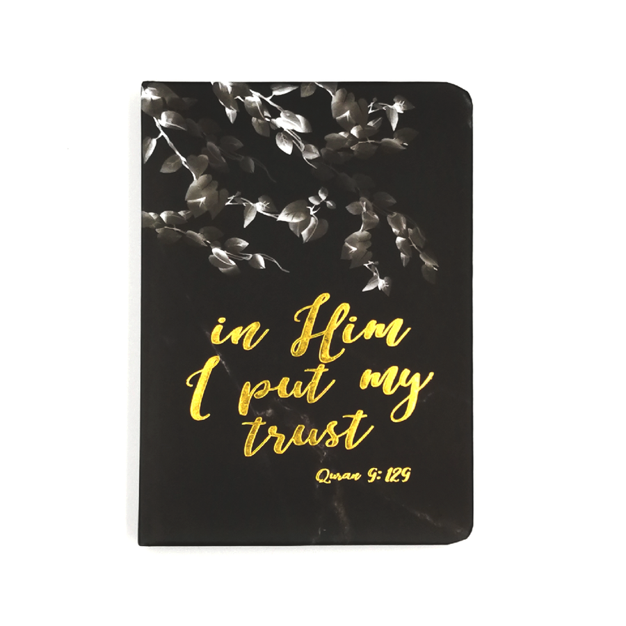 In Him I Put My Trust Luxe A6 Notebook - Iman Shoppe Bookstore