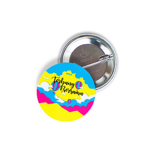 Iman Publication Merchandise Merch-IMAN Button Badge : Terbang Bersama