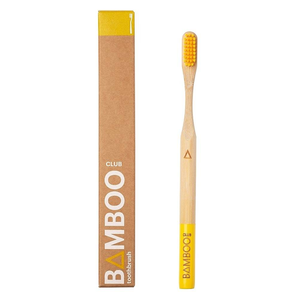 Adults Bamboo Toothbrush - Yellow