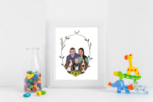 Personalised Family Portrait - Framed