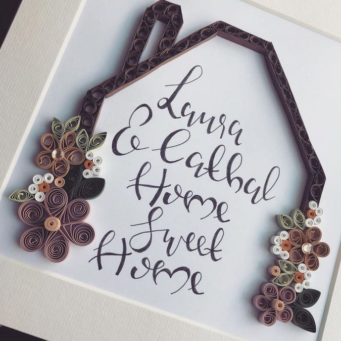 Personalised Home Sweet Home - Quilling Frame