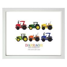 Load image into Gallery viewer, Personalised Tractor Print - Framed