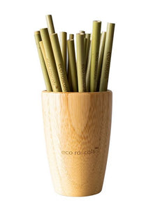 Reusuable bamboo straws – 5 pack