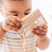 Load image into Gallery viewer, Clip & Teether: Casette Tape - Pink