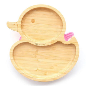 Bamboo Suction Plate: Duck